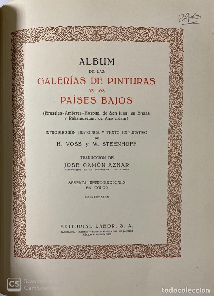 Libros de segunda mano: GALERIAS DE EUROPA. GALERIA DE PINTURAS MUSEO DE LOS PAISES BAJOS. 2ª ED.EDITORIAL LABOR.BARCELONA - Foto 3 - 183796950