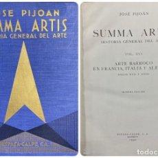 Libros de segunda mano: LA PINTURA ESPAÑOLA DEL SIGLO CVI. SUMMA ARTIS. VOL. XXIV. ESPASA-CALPE. MADRID, 1970. PAGS: 664. Lote 183979326