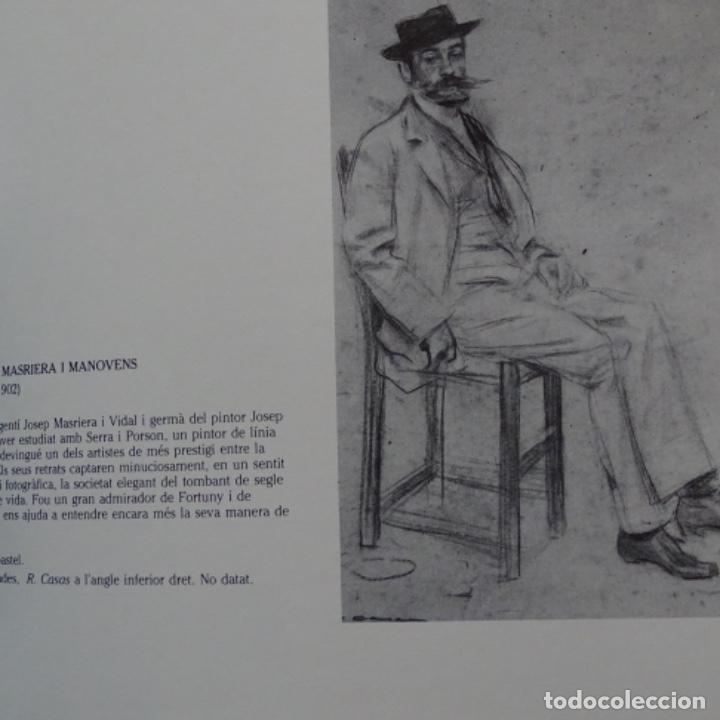 Libros de segunda mano: Libro Ramon casas.retrats al carbó.ajuntament de barcelona.1982.punto libro. - Foto 6 - 187465773