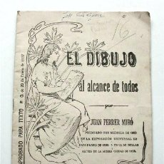 Libros de segunda mano: EL DIBUJO AL ALCANCE DE TODOS. CUADERNO 5.SELLO ACADEMIA MAURA (SAN FERNANDO. CÁDIZ) FECHADO EN 1948. Lote 190170637
