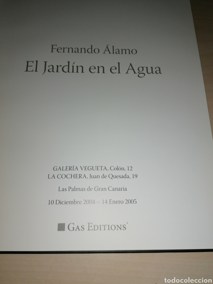 Libros de segunda mano: FERNANDO ÁLAMO - EL JARDÍN EN EL AGUA - Foto 2 - 191065036