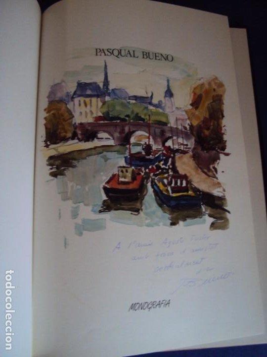 (LI-200101)MONOGRAFIA PASCUAL BUENO - DIBUJO Y DEDICATORIA ORIGINAL (Libros de Segunda Mano - Bellas artes, ocio y coleccionismo - Pintura)