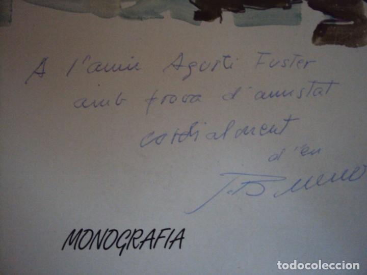 Libros de segunda mano: (LI-200101)MONOGRAFIA PASCUAL BUENO - DIBUJO Y DEDICATORIA ORIGINAL - Foto 2 - 191679011
