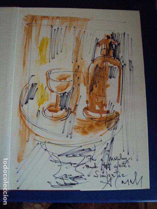 (LI-200103)AMADEU CASALS- HOMENATGE A RUSIÑOL - DIBUJO Y DEDICATORIA ORIGINAL (Libros de Segunda Mano - Bellas artes, ocio y coleccionismo - Pintura)