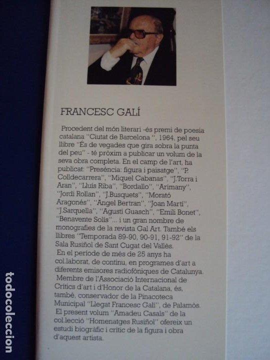 Libros de segunda mano: (LI-200103)AMADEU CASALS- Homenatge a Rusiñol - DIBUJO Y DEDICATORIA ORIGINAL - Foto 3 - 191679712