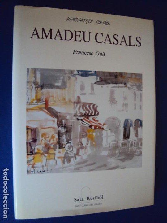 Libros de segunda mano: (LI-200103)AMADEU CASALS- Homenatge a Rusiñol - DIBUJO Y DEDICATORIA ORIGINAL - Foto 4 - 191679712