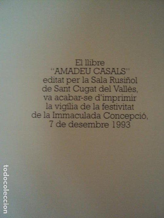 Libros de segunda mano: (LI-200103)AMADEU CASALS- Homenatge a Rusiñol - DIBUJO Y DEDICATORIA ORIGINAL - Foto 7 - 191679712