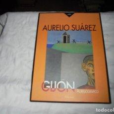 Libros de segunda mano: GIJON AURELIOGRAFICO.AURELIO SUAREZ,CARPETA CON 40 LAMINAS.EDICION NUMERADA ESTE ES EL Nº 96.-2009. Lote 192075615