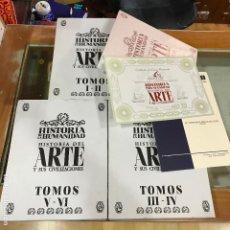 Libros de segunda mano: HISTORIA DEL ARTE Y SUS CIVILIZACIONES+ DVD 7 TOMOS Y DVDS. ABANTERA EDICIONES. Lote 192755781