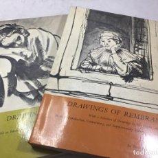 Libros de segunda mano: DRAWINGS OF REMBRANDT 1965 EDIT DOVER PUBLICATIONS DOS VOLÚMENES ILUSTRADOS DIBUJOS INGLÉS. Lote 192957456