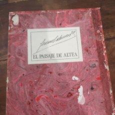 Libros de segunda mano: EL PAISAJE DE ALTEA, GENARO LAHUERTA, EDICIONES AITANA, EJEMPLAR 135 DE 295. Lote 193912385