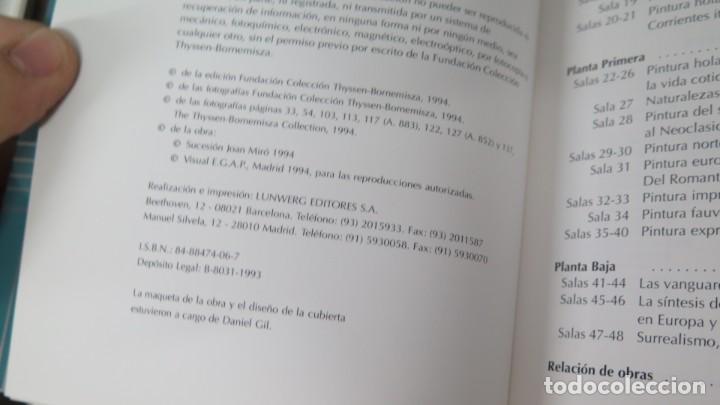 Libros de segunda mano: 1993.- GUIA DEL MUSEO THYSSEN BORNEMISZA - Foto 2 - 194222747