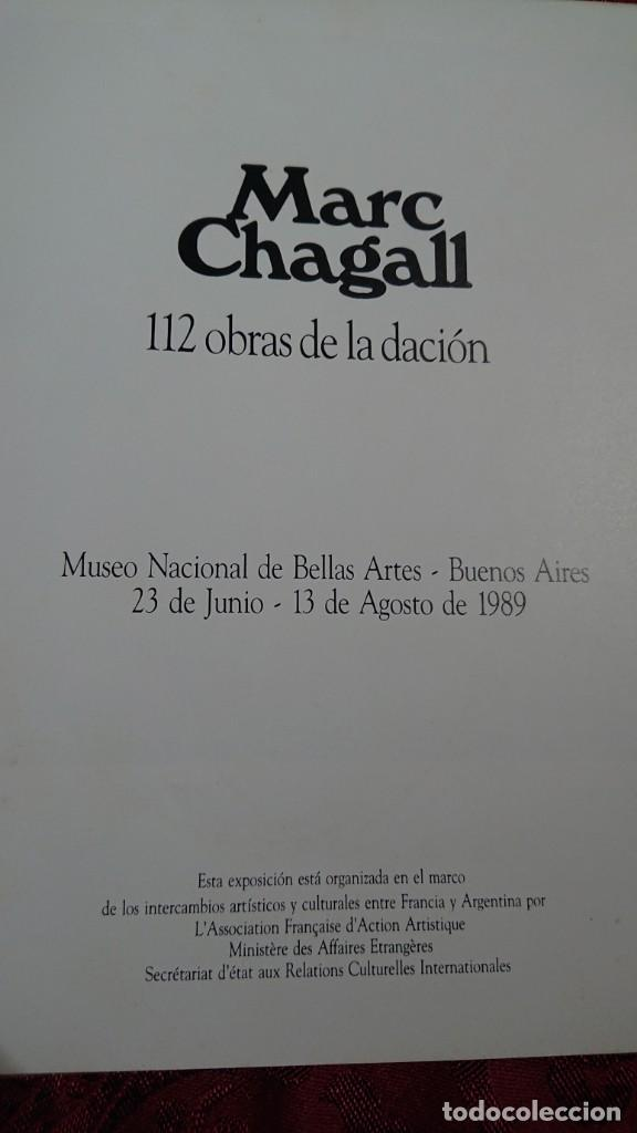 Libros de segunda mano: MARC CHAGALL 112 OBRAS DE LA DACION EXPOSICION NACIONAL BELLAS ARTES BUENOS AIRES ARGENTINA 1989 - Foto 2 - 194239313