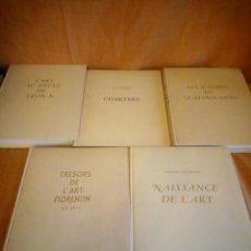 Libros de segunda mano: LES MAITRES DU QUATTROCENTO,CHARTRES,L´ART AU SIECLE DE LEON X,TRESORS DE L´ART FLORENTIN XIV-XV1948. Lote 194245660