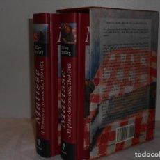 Libros de segunda mano: HILARY SPURLING. MATISSE. EDHASA, 2007. 1450 PÁGS. ILUSTRADO EN NEGRO Y COLOR. 2 TOMOS CON ESTUCHE . Lote 194282922