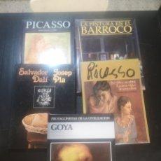 Libros de segunda mano: LOTE DE CINCO LIBROS DE PINTORES ESPAÑOLES, PICASSO, DALI, GOYA, Y LA PINTURA EN EL BARROCO. Lote 194359465
