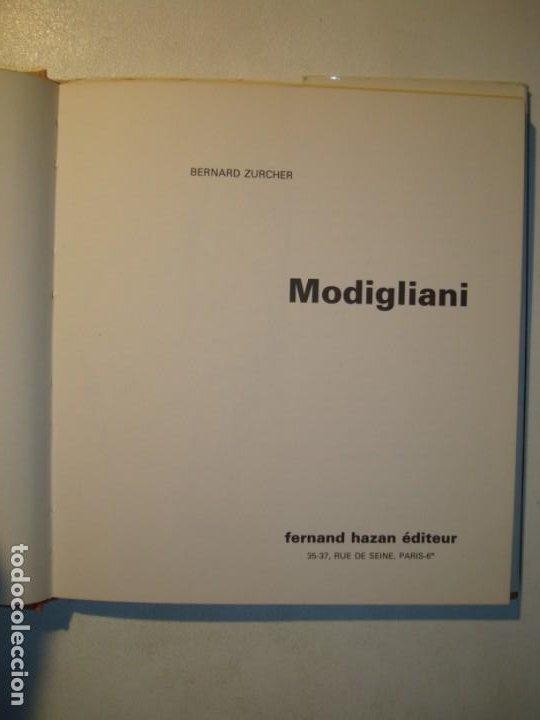 Libros de segunda mano: MODIGLIANI - BERNARD ZURCHER - FERNAND HAZAN EDITEUR PARIS 1980 - Foto 5 - 194533262