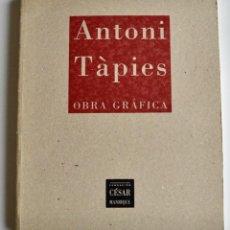 Libros de segunda mano: CATÁLOGO. ANTONI TÀPIES. OBRA GRÁFICA. FUNDACIÓN CÉSAR MANRIQUE. CASTELLANO/INGLÉS.1996. Lote 194627892