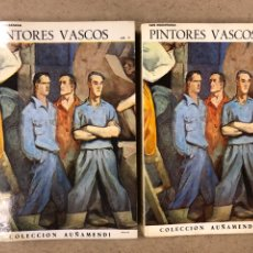 Libros de segunda mano: PINTORES VASCOS. LUIS MADARIAGA. 2 TOMOS. COLECCIÓN AUÑAMENDI N° 81-82 (1970).. Lote 194686730