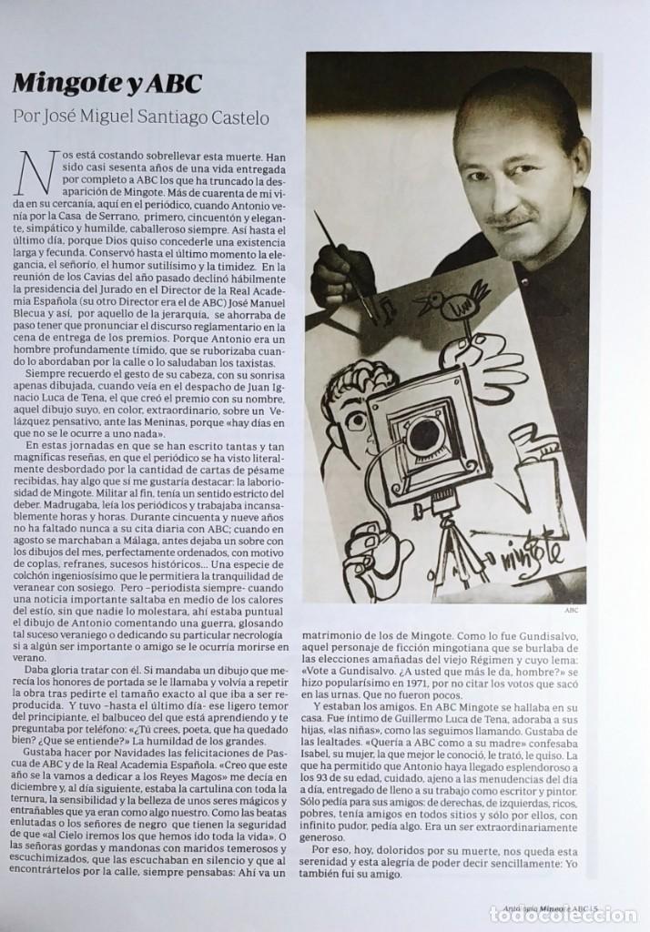 Libros de segunda mano: MINGOTE : ANTOLOGÍA. MADRID : DIARIO ABC, 2012. - Foto 2 - 194873128