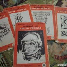Libros de segunda mano: LECCIONES DE DIBUJO LAMINAS EMILIO FREIXAS, 5 CUADERNILLOS . Lote 195045535