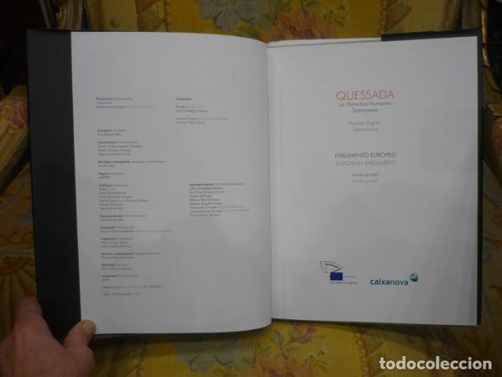 Libros de segunda mano: QUESSADA. LOS DERECHOS HUMANOS. TESTIMONIOS. PARLAMENTO EUROPEO, ESTRASBURGO 2.007. ILUSTRADO. - Foto 4 - 195049525