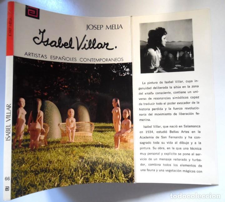 ISABEL VILLAR, UNA MONOGRAFÍA DE JOSEP MELIÀ. (Libros de Segunda Mano - Bellas artes, ocio y coleccionismo - Pintura)