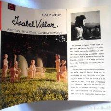 Libros de segunda mano: ISABEL VILLAR, UNA MONOGRAFÍA DE JOSEP MELIÀ.. Lote 195050817