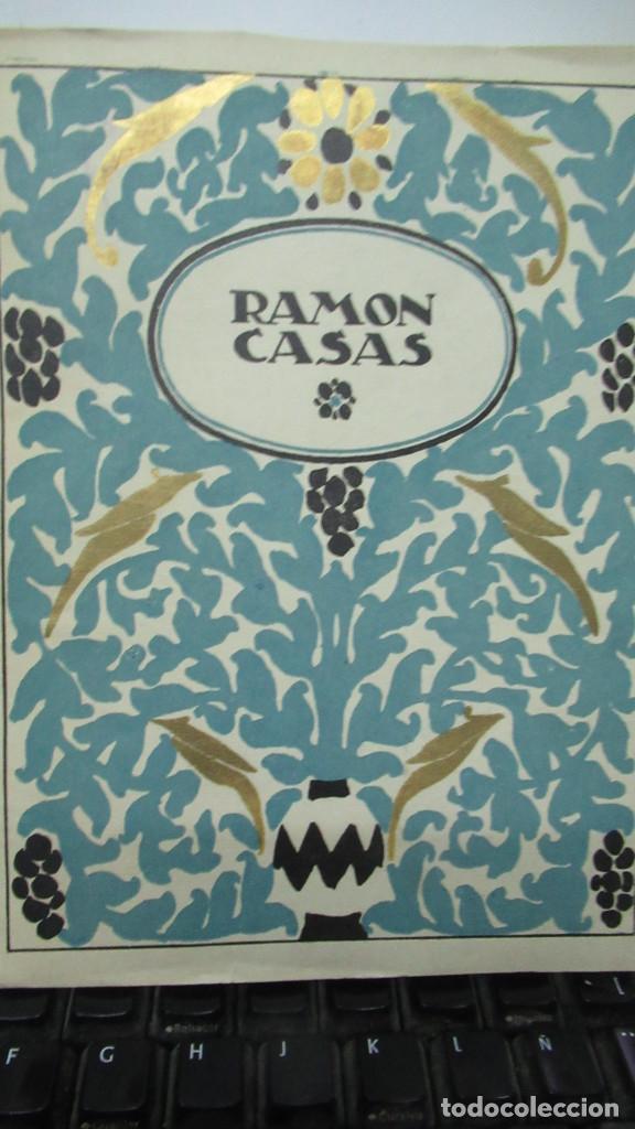RAMON CASAS MONOGRAFIAS DE ARTE LIBRO CON 24 LAMINAS DE DIBUJOS (Libros de Segunda Mano - Bellas artes, ocio y coleccionismo - Pintura)