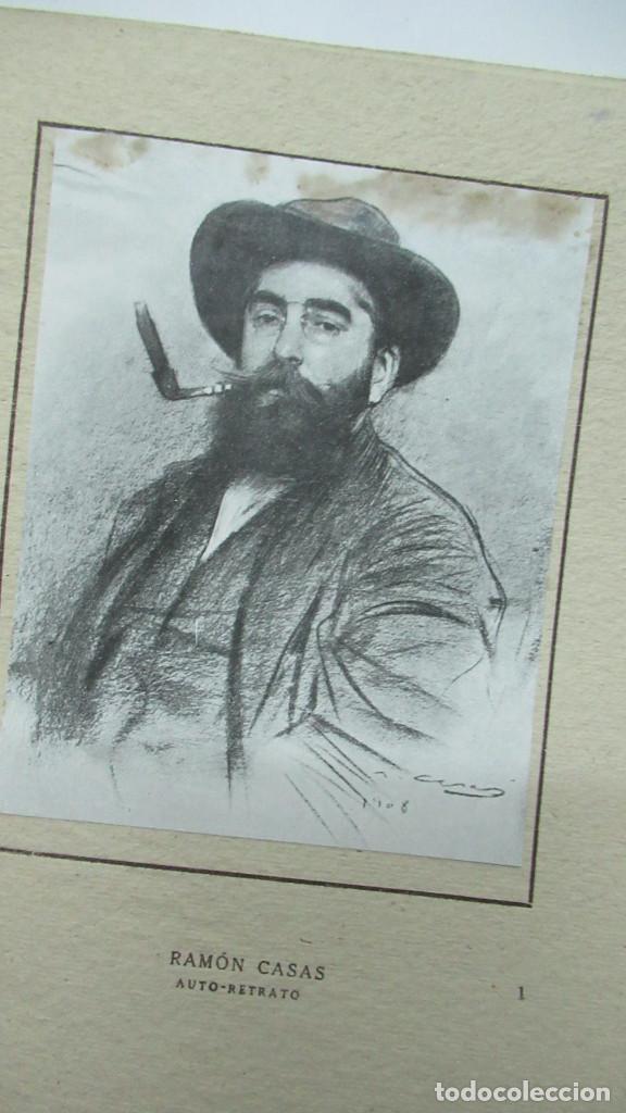 Libros de segunda mano: Ramon Casas Monografias de Arte Libro con 24 laminas de dibujos - Foto 3 - 195057877