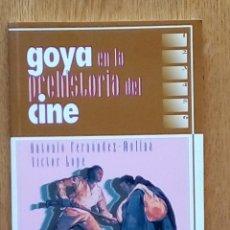 Libros de segunda mano: GOYA EN LA PREHISTORIA DEL CINE.ANTONIO FERNÁNDEZ MOLINA Y VICTOR LOPE.AYTO DE ZARAGOZA 1997. Lote 195086443