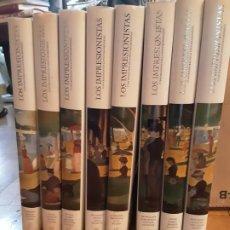 Libros de segunda mano: LOS IMPRESIONISTAS Y LOS CREADORES DE LA PINTURA MODERNA, CARROGGIO, 1999-2000, 8 TOMOS. COMPLETA.. Lote 195252030