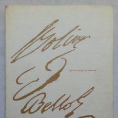 Libros de segunda mano: BOLIVAR, BELLO Y EL PORVENIR. . Lote 195307686