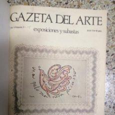 Libros de segunda mano: GACETA DEL ARTE. 5 VOL. Y UN NUMERO EXTRAORDINARIO DE PICASO. 1973 AL 1976 MADRID. ENCUADERNADO.. Lote 195461402
