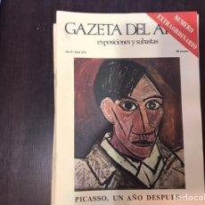 Libros de segunda mano: PICASSO UN AÑO DESPUÉS. GAZETA DEL ARTE. NÚMERO EXTRAORDINARIO. Lote 195525053