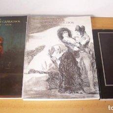 Libros de segunda mano: LOTE LIBROS PINTURA GOYA - LA DÉCADA DE LOS CAPRICHOS RETRATOS - LOS CAPRICHOS - GOYA. Lote 195542753