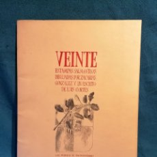 Libros de segunda mano: VEINTE ESTAMPAS SALMANTINAS DIBUJADAS POR ZACARIAS GONZÁLEZ. SALAMANCA 1972. Lote 197946412