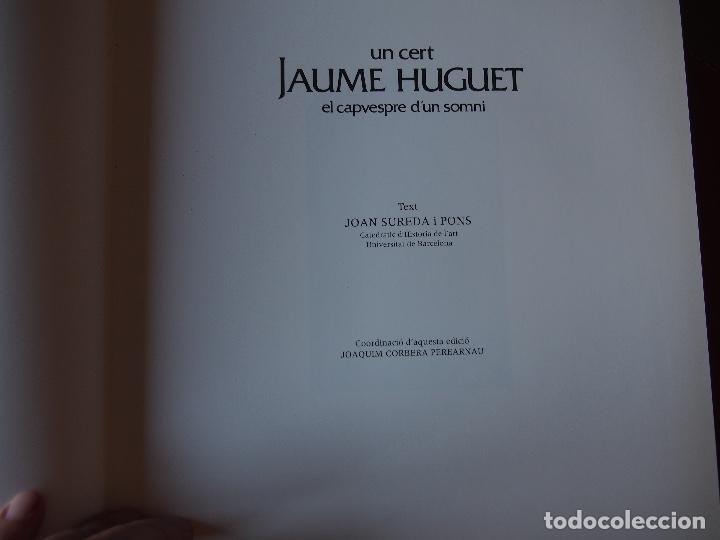 Libros de segunda mano: Un cert Jaume Huguet el capvespre dun somni. Joan Sureda i Pons. - Foto 2 - 199401711