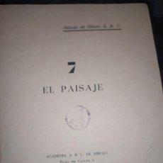 Libros de segunda mano: MÉTODO DE DIBUJO A. B. C. EL PAISAJE 7 ACADEMIA ABC ERNESTO GIMÉNEZ S. A.. Lote 199882362