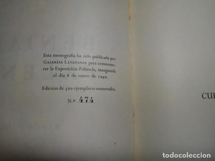 Libros de segunda mano: Benjamín Palencia por Ramón Faraldo. Galerías Layetanas. Barcelona 1949. Ejemplar 474/500. - Foto 3 - 202003738
