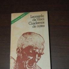 Libri di seconda mano: CUADERNOS DE NOTAS. LEONARDO DA VINCI. Lote 204260003