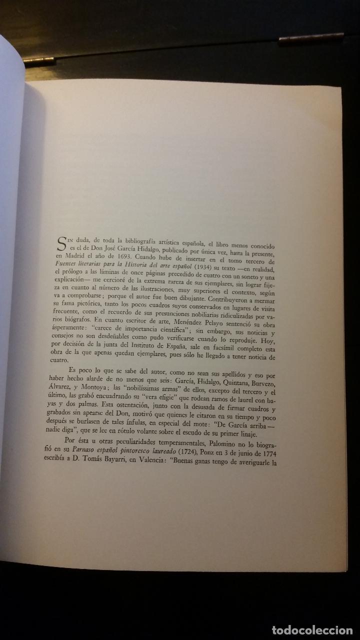 Libros de segunda mano: 1965 - JOSÉ GARCÍA HIDALGO - Principios para estudiar el nobilísimo y real arte de la pintura (1693) - Foto 3 - 204603657