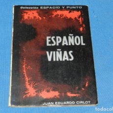 Libros de segunda mano: (M) JUAN EDUARDO CIRLOT - ESPAÑOL VIÑAS, COLECCIÓN ESPACIO Y PUNTO, FIRMA AUTOGRAFA DE CIRLOT. Lote 204785340