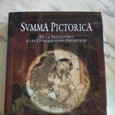Libros de segunda mano: SVMMA PICTORICA - TOMO 1 -- DE LA PREHISTORIA A LAS CIVILIZACIONES ORIENTALES -- PLANETA 2000 --. Lote 205844937
