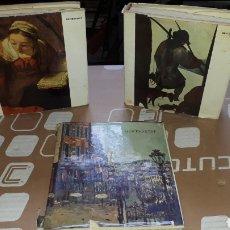 Libros de segunda mano: 3 TOMOS PINTORES EDITORIAL SKIRA REMBRANDT MONTMATRE Y BRUEGEL. Lote 207722077