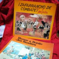 Libros de segunda mano: HUMOR A BORDO+ ¡ZAFARRANCHO DE COMBATE!- JAN SANDERS, EDITORIAL CANTÁBRICA, 1979-80.. Lote 207800740