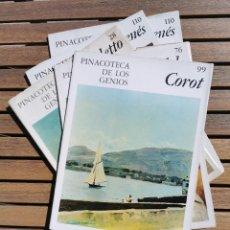 Libros de segunda mano: LOTE DE 5 FASCICULOS - PINACOTECA DE LOS GENIOS - NUMEROS 99 76 28 Y 110 X2. Lote 208036680