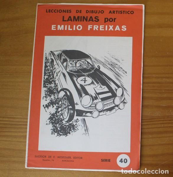 LECCIONES DE DIBUJO ARTISTICO LAMINAS POR EMILIO FREIXAS. SERIE 40 MESEGUER EDITOR 1964 (Libros de Segunda Mano - Bellas artes, ocio y coleccionismo - Pintura)