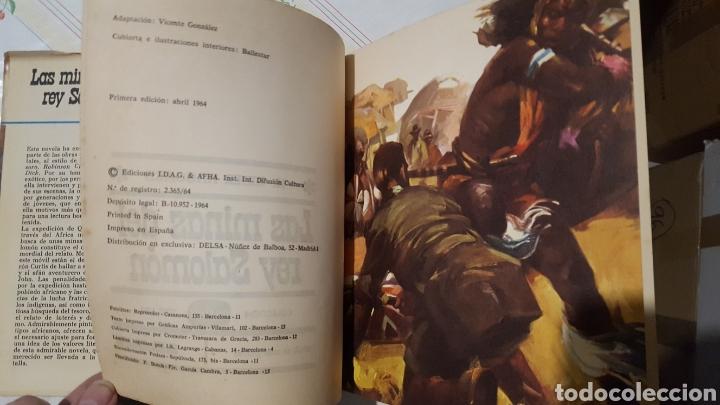 Libros de segunda mano: Libro - LAS MINAS DEL REY SALOMÓN, AURIGA SERIE, EDICIONES I.D.A.G, 1ª EDICIÓN, AÑO 1964 - Foto 4 - 208888197
