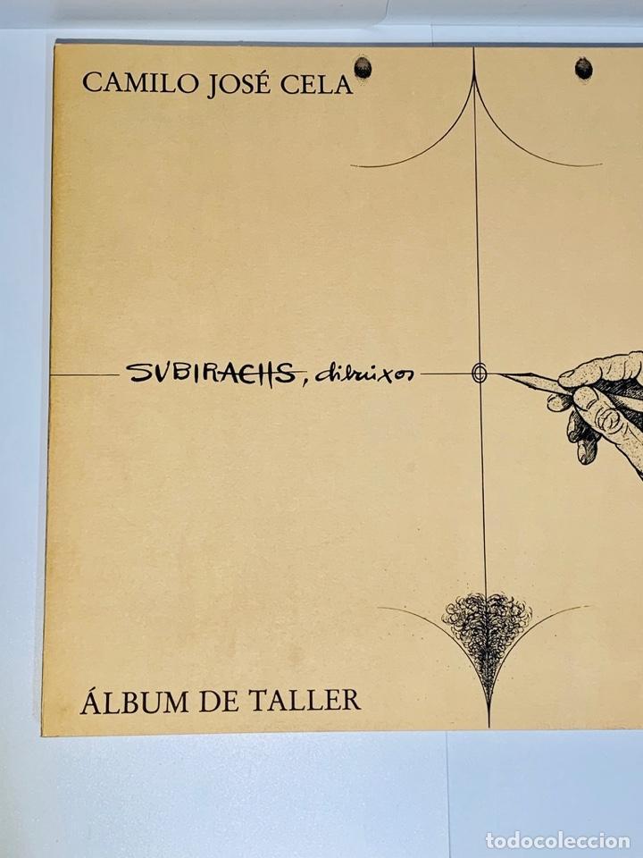Libros de segunda mano: Camilo José Cela - Subirachs. Álbum de Taller. Ambig. 1era Ed. 1981. Numerado. Con factura de época. - Foto 4 - 208935193